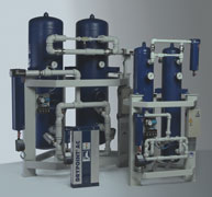 Drypoint AC series twin tower desiccant compressed air dryers